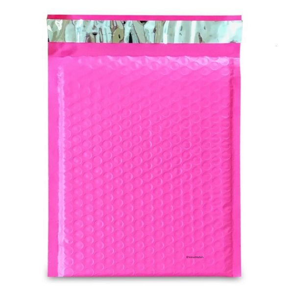 #0 Pink Poly Bubble Mailers Envelopes Bags 6x10 Extra Wide Colors 6x9