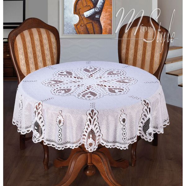 White Tablecloth Lace 59