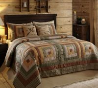 3pc Tallmadge Log Cabin Quilted Bedding Set by VHC Brands ...