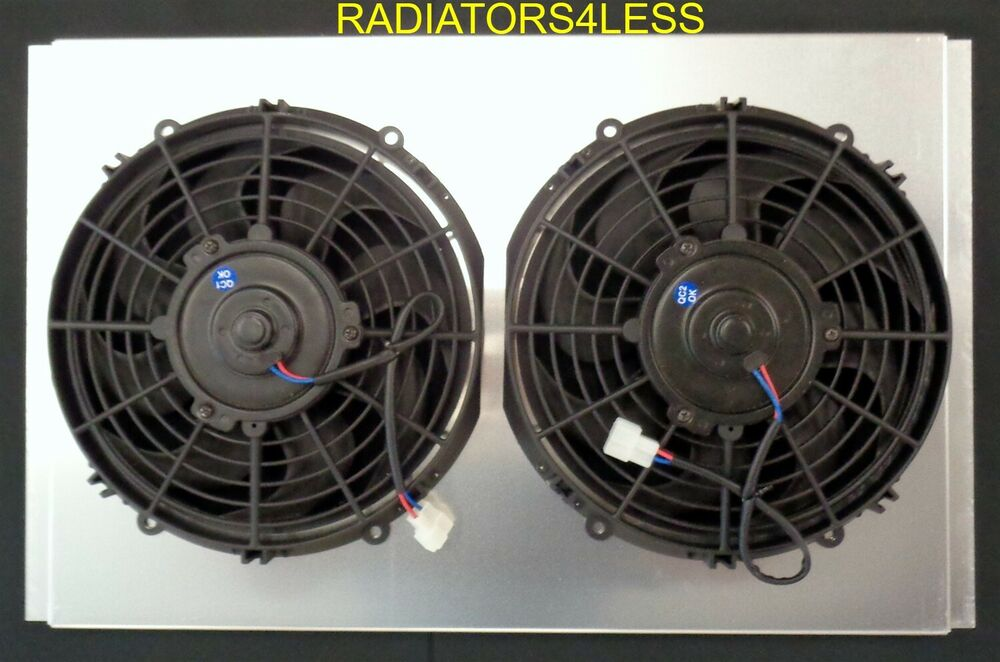 New All Aluminum Radiator Fan Shroud W 10 Quot Fans 62 63 64