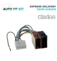 clarion 16 pin iso wiring harness loom adaptor wire radio connector lead 3182861612954 ebay [ 1000 x 1000 Pixel ]