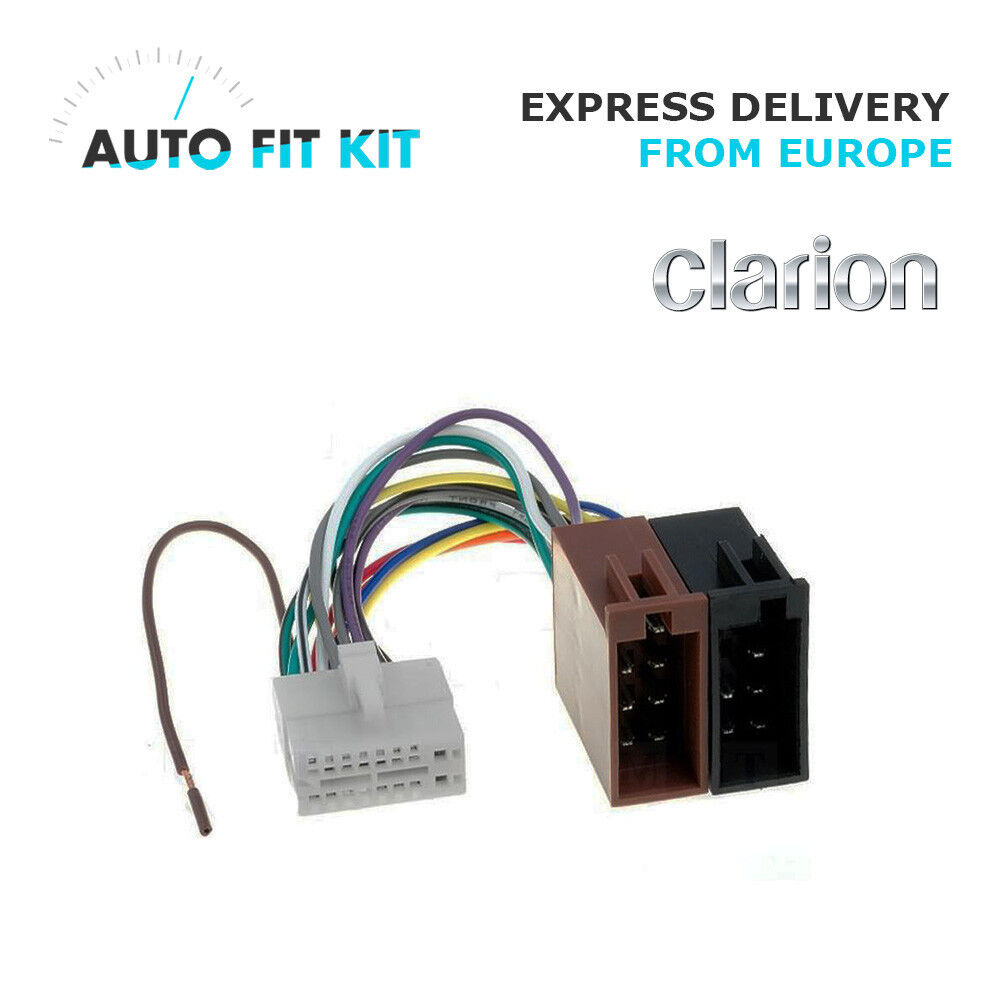 medium resolution of clarion 16 pin iso wiring harness loom adaptor wire radio connector lead 3182861612954 ebay