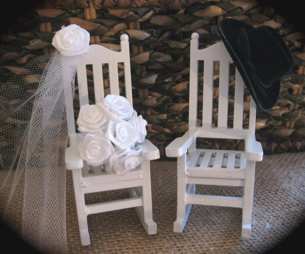 Country Western Cowboy Themed Rocking Chair Cake Topper  eBay