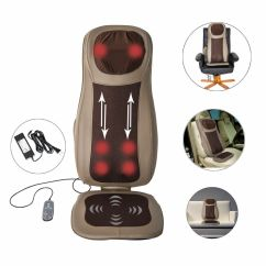 Massage Pad For Chair Electric Zero Gravity Cushion Neck Back Thigh Shoulder Massager Heat Vibrat Seat Home | Ebay