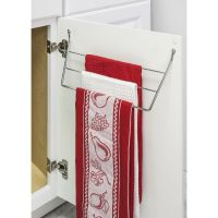 CHROME DISH TOWEL HOLDER MOUNTS TO KITCHEN CABINET DOOR ...