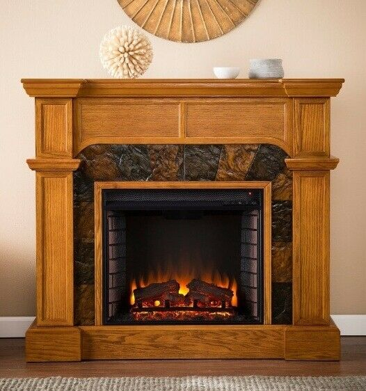 Corner Electric Fireplace With Mantel Oak Electric Corner Or Flat Fireplace Mantle Fireplaces 45