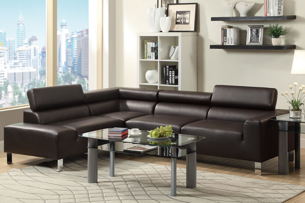 reclining chair with ottoman leather amazon uk arm covers modern sectional couch bonded sofa set espresso living room furniture | ebay