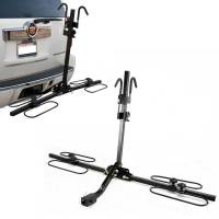 Upright Heavy Duty 2 Bike Bicycle Hitch Mount Carrier ...