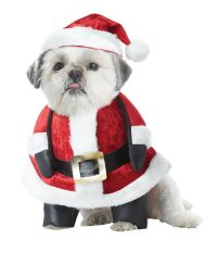 Santa Claus Pup Christmas Dog Pet Costume | eBay
