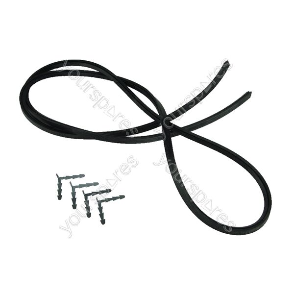 Universal 4 Sided Cooker Oven Rubber Door Seal & Clips