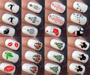 christmas nail art stickers decals