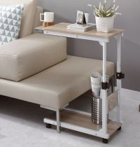 Height Adjustable Bedside Caster Table DIY Multi Use ...