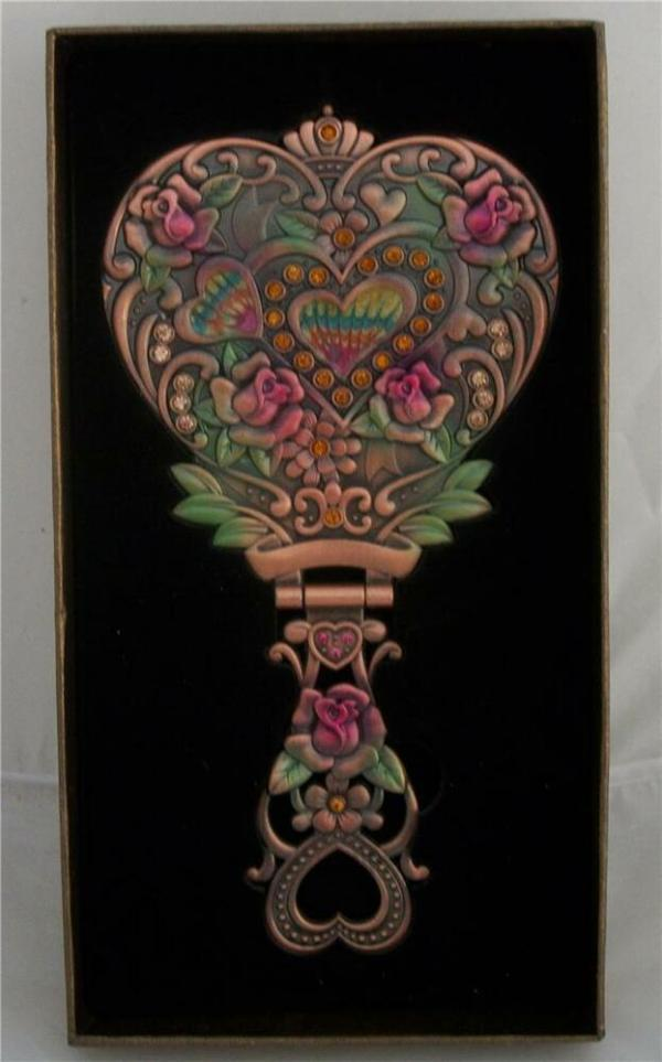 Art Deco Nouveau Style DRESSING TABLE HEARTS ROSES HAND