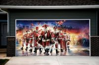 Christmas Santa Decor Garage Door Covers 3d Print Mural