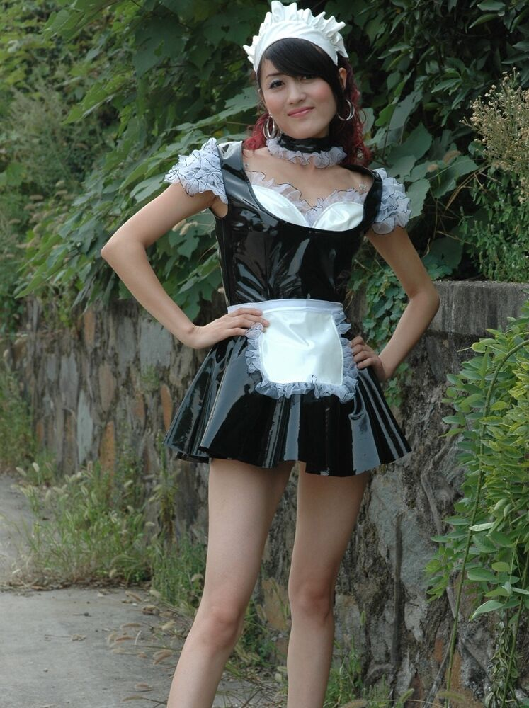 lackina French Maid Maid Lacquer Black Size S  4 XL  eBay