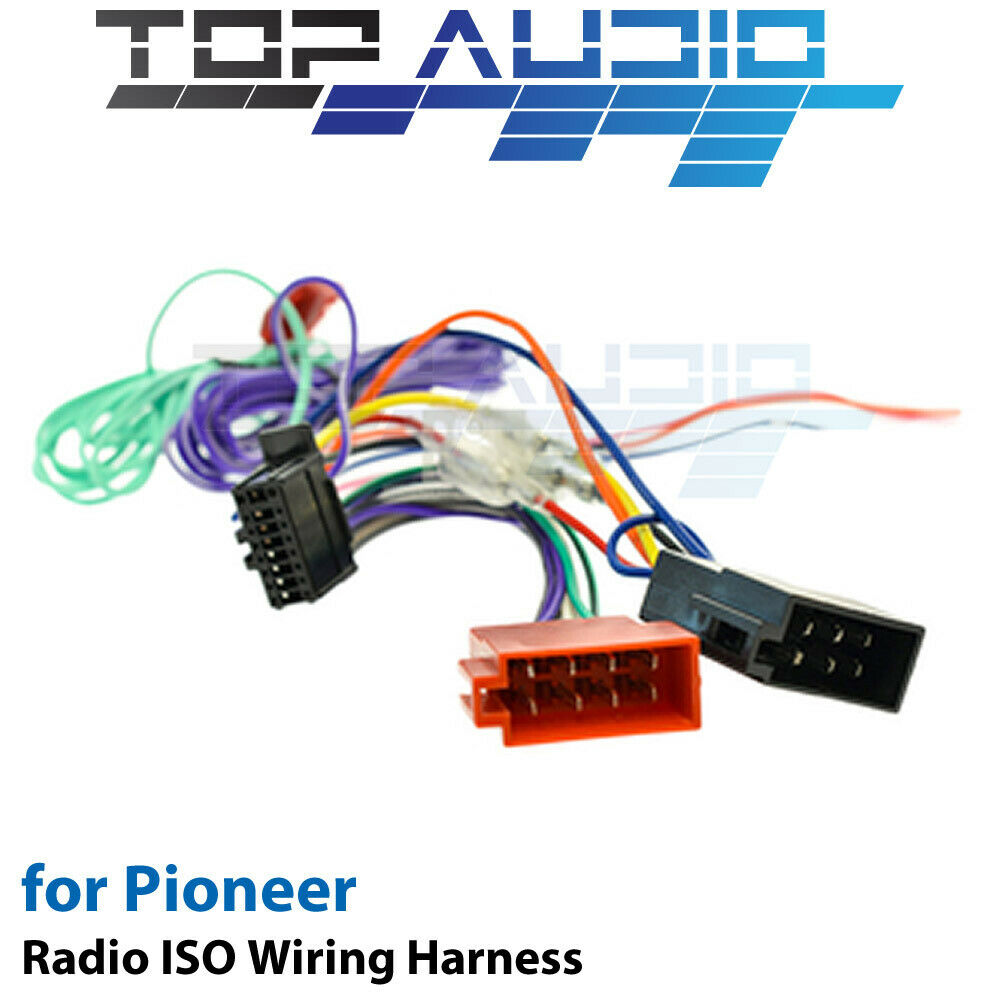 hight resolution of pioneer avh x2850bt iso wiring harness cable connector pioneer avh x2700bs wiring diagram pioneer wiring color code