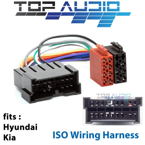 small resolution of details about fit hyundai kia iso wiring harness stereo radio plug lead loom adaptor
