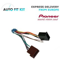 details about pioneer avh 16 pin iso wiring harness loom adaptor wire radio connector lead [ 1000 x 1000 Pixel ]