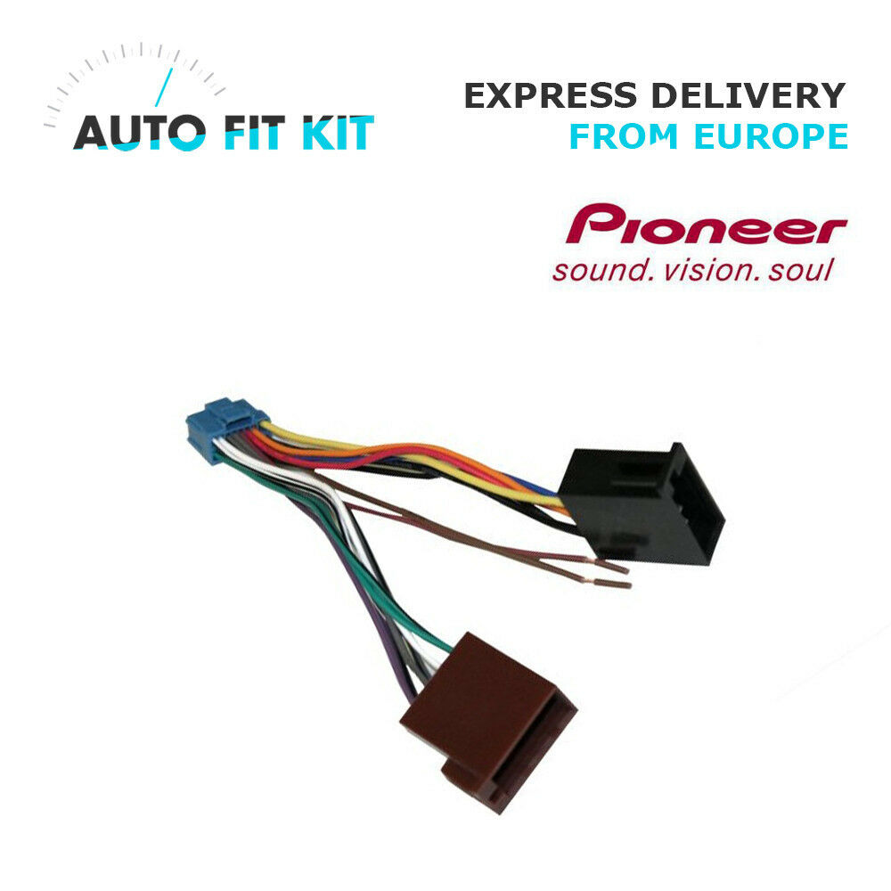 hight resolution of details about pioneer avh 16 pin iso wiring harness loom adaptor wire radio connector lead