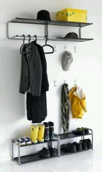 IKEA LUSTIFIK wall mountable Tidy Stand Hat Shoe Coat Rack ...