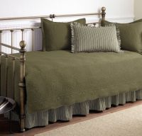 5 piece Green Daybed Quilt Set 100% Cotton Day Bed Bedding ...