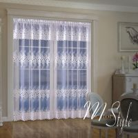 Long Net Curtain SINGLE Panel Slot Top White Ready Made ...