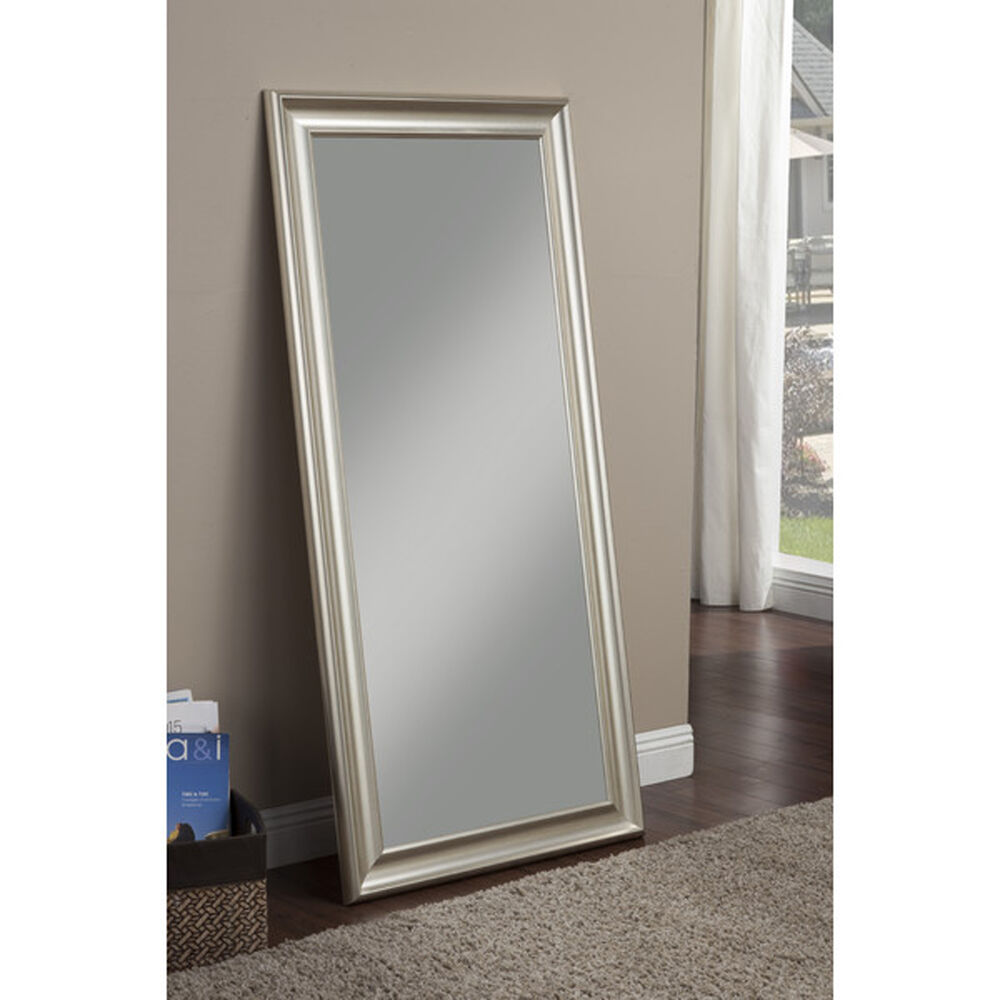Full Length Mirror Leaning Or Hang Floor Dressing Leaner Living Room Silver New  eBay