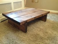 COFFEE TABLE, SOLID WOOD, RUSTIC CHUNKY,HANDMADE | eBay