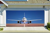 Garage Mural Plane Aircraft Airplane 3D Effect Garage Door ...