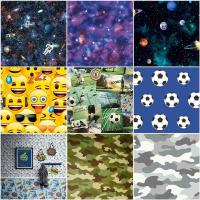 BOYS TEENAGER STUDENT BEDROOM WALLPAPER WALL DECOR SPACE ...