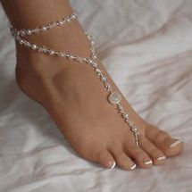 Foot Jewelry Pearl Anklet Chain Barefoot Sandal Bridal