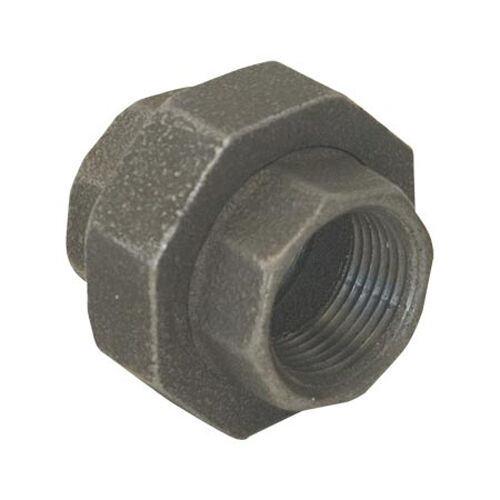 """1"""" BLACK MALLEABLE IRON UNION fitting pipe npt"""