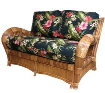 Kingston Reef Indoor Natural Rattan And Wicker Loveseat
