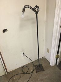ANTIQUE VINTAGE MISSION GOTHIC GOTH MAIDEN FLOOR LAMP W