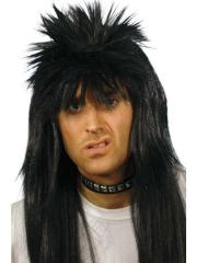 mens rocker punk wig spiky 80s