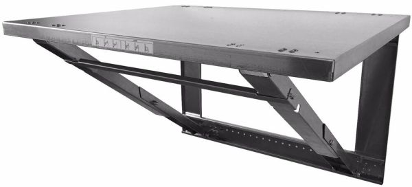 Steel Wall Mounted Folding Work Bench Table 26quot x 32quot eBay