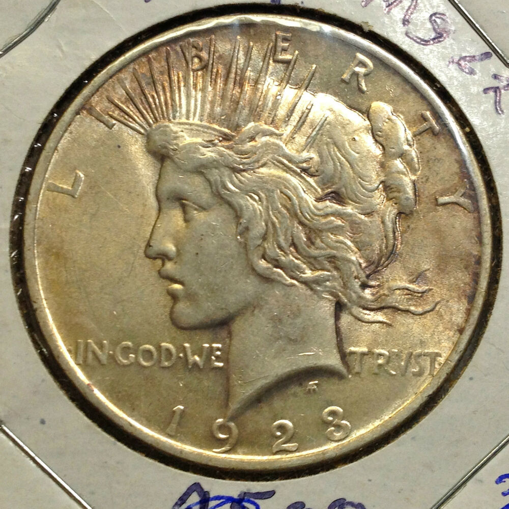 1923 PEACE SILVER DOLLAR HIGH END COIN FROM OLD TYPE COIN COLLECTION  eBay