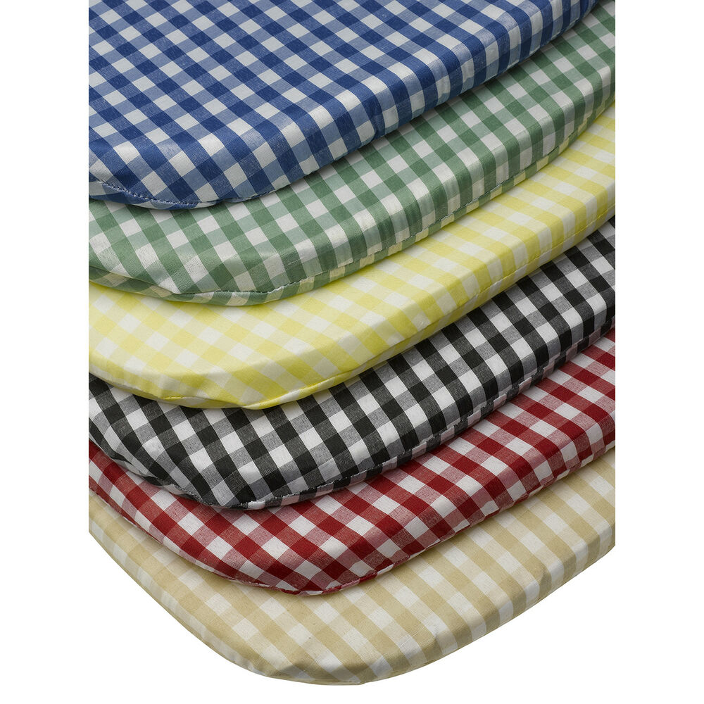 """Gingham Check Tie On Seat Pad 16"""" x 16"""" Kitchen Outdoor"""