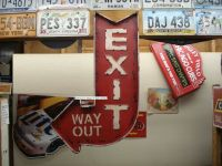 LARGE EXIT DECOR cinema movie theater mancave wall art ...