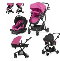 Pink Baby Stroller Car Seat Carriage 3 in 1 Travel System
