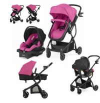 Pink Baby Stroller Car Seat Carriage 3 in 1 Travel System ...