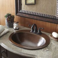 Copper Bathroom Sink Bath Vanity Hammered Finish Oval Bowl ...
