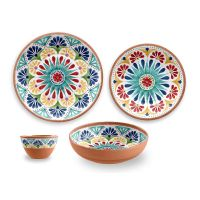 Rio Medallion 16 Piece Melamine Dinnerware Set by TarHong