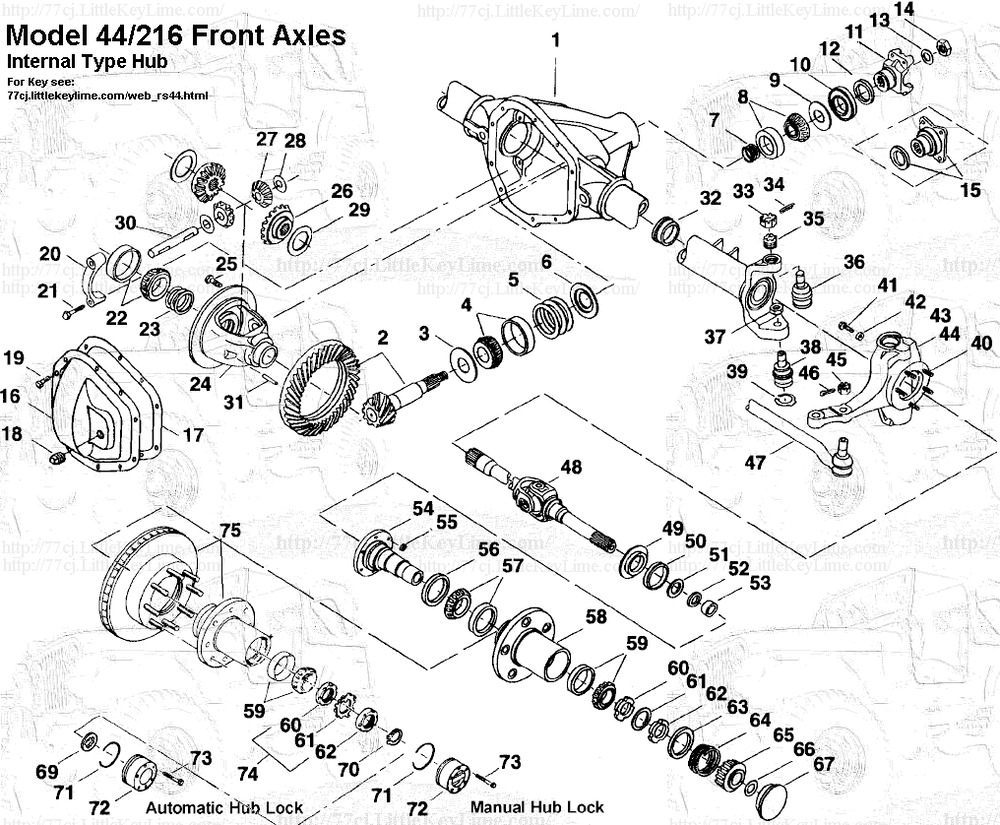 DANA SPICER DRIVE AXLES MODEL 30, 44 & 60 WORKSHOP SERVICE