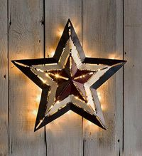 Americana Large Metal STAR LED Lighted Star Indoor Outdoor ...