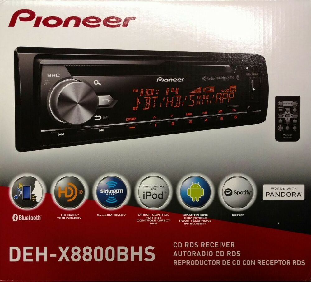 Pioneer Deh X Bhs Cd Rds Receiver Aux Usb Bt Hd Radio
