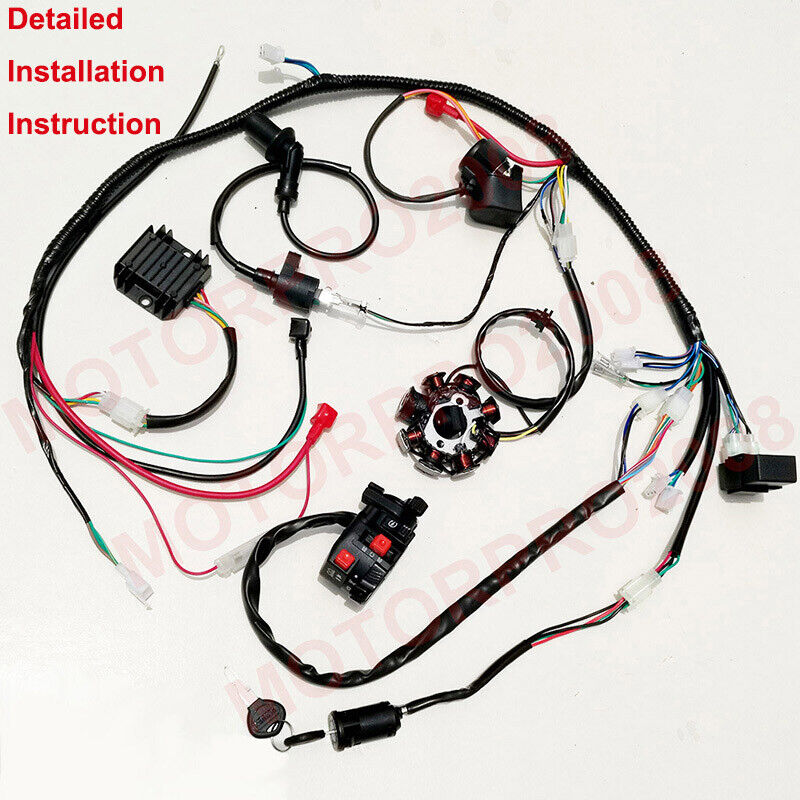 hight resolution of details about buggy wiring harness loom gy6 150cc atv stator electric start kandi gokart dazon
