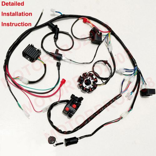 small resolution of details about buggy wiring harness loom gy6 150cc atv stator electric start kandi gokart dazon