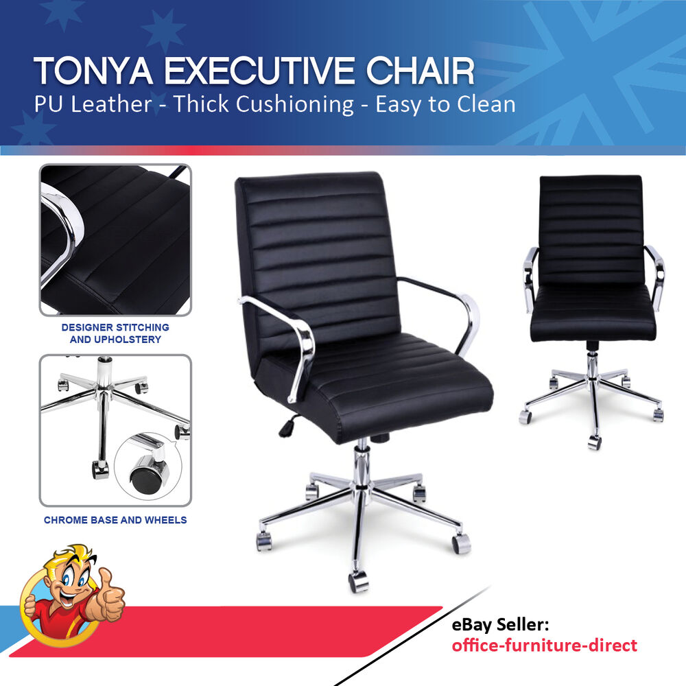 Boardroom Chairs Tonya Black Office Executive Chair Desk Meeting Boardroom Chairs Pu Leather Ebay