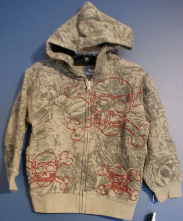 Disney World Pirates Caribbean Sketch Art Hoodie